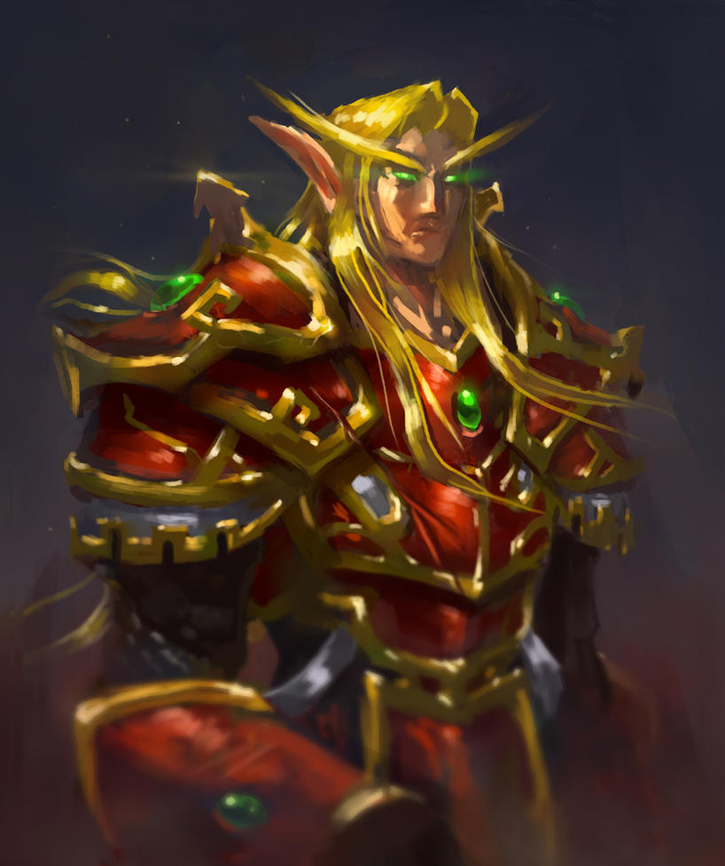 Blood Elf Concept Sketch 02 by jackfrozz