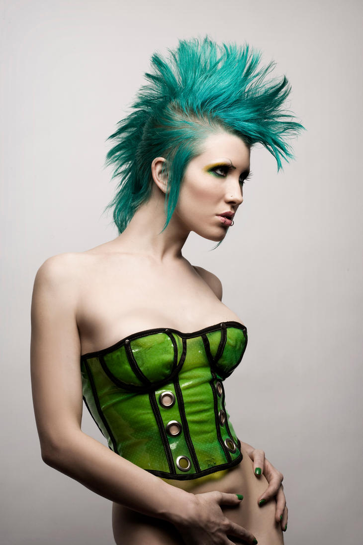 Green Mohawk by Ryo Says Meow Get Your Punk Out: Bright and Colourful Mohawk Photography