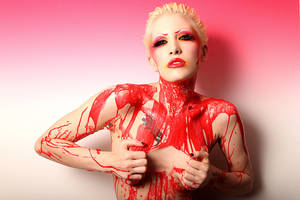 Red Liquid Latex. by Ryo-Says-Meow