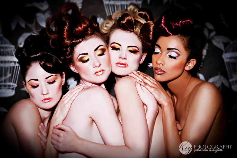 Four girls makeup. by Ryo-Says-Meow