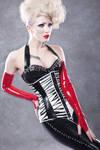 Zebra print corset by Ryo-Says-Meow