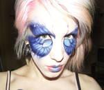 blue butterfly makeup