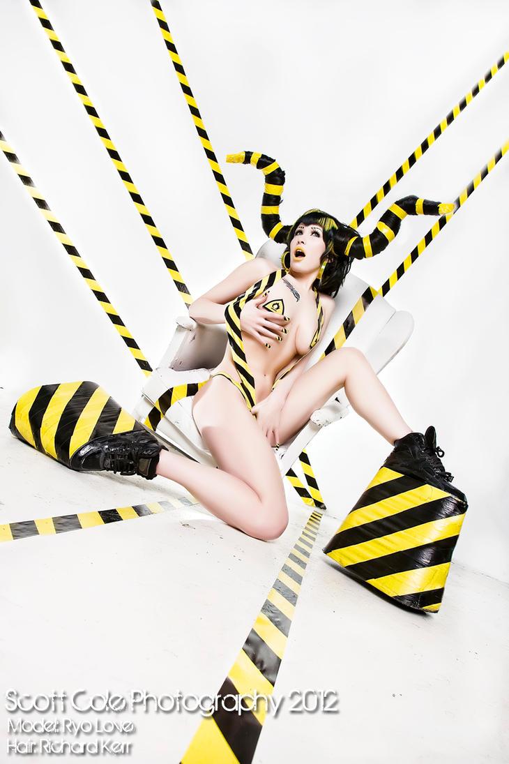 Hazard tape by Ryo-Says-Meow