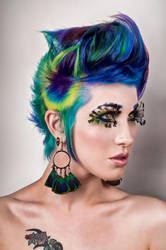 Peacock hair by Ryo-Says-Meow