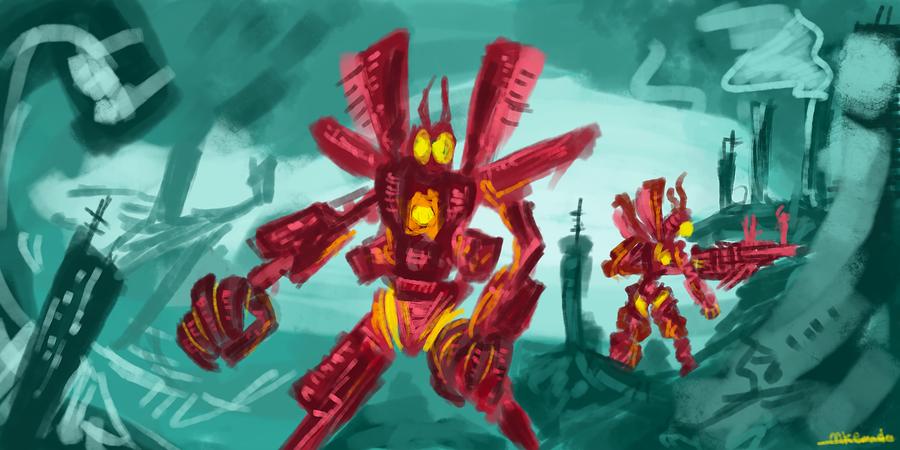 Robot Apocalypse by Mkemaster