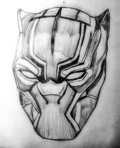 Black Panther Helmet Fanart by VulgrimsShadow