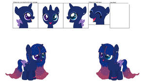 TwiLuna Ship Pony: Lunar Sparkle