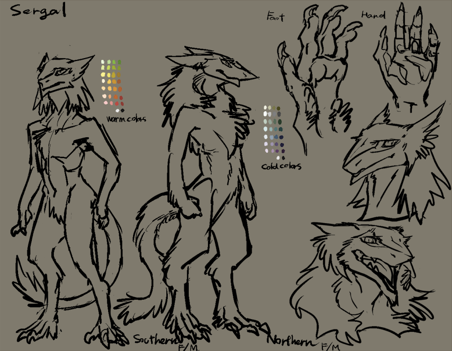 Northern and Southern Sergal Reference