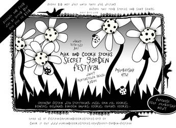 M 'n C Secret Garden Festival Flyer by squiglemonster