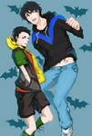 Nightwing and Robin_Dick and Damian