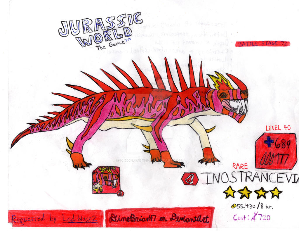 Jurassic World The Game Inostrancevia Request By Dinobrian47 On