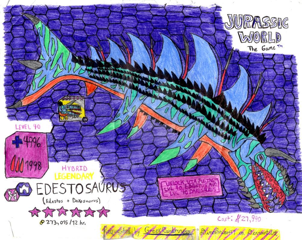 Jurassic World The Game Edestosaurus Request By Dinobrian47 On