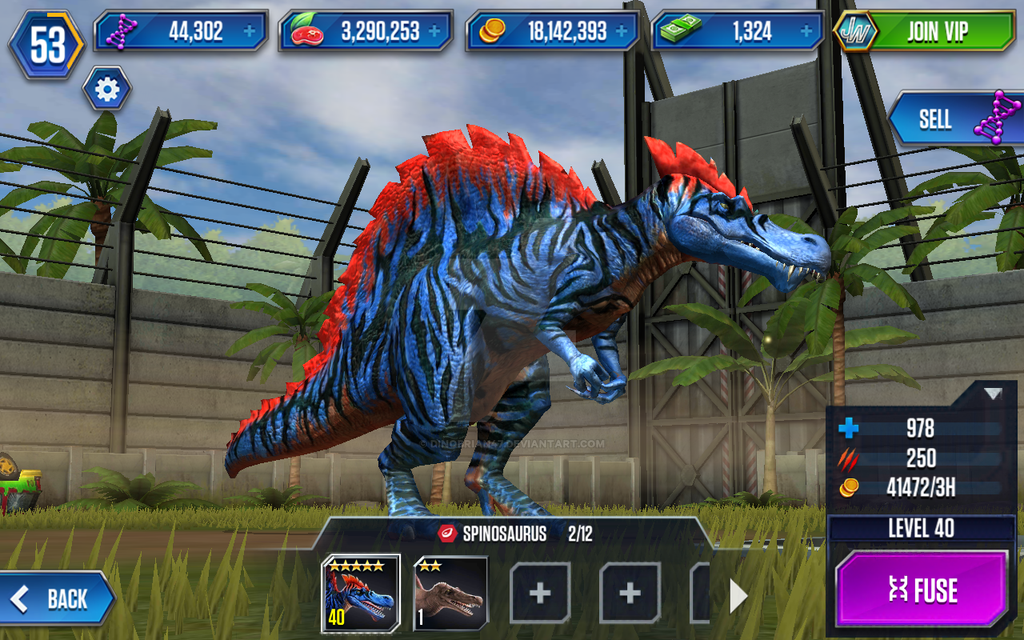 SPINOSAURUS LEVEL 40 - Jurassic World: The Game - YouTube