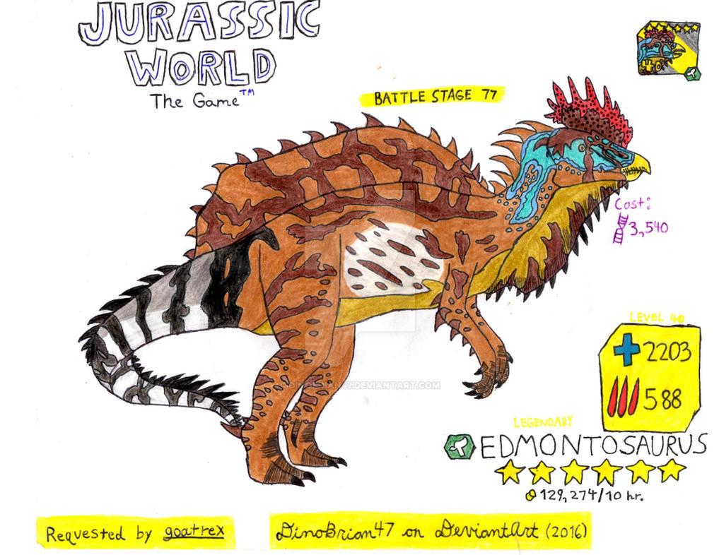 Jurassic World: The Game - Edmontosaurus (Request) by DinoBrian47