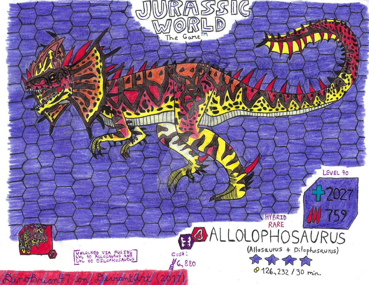 jurassic world the game  allolophosaurusdinobrian47