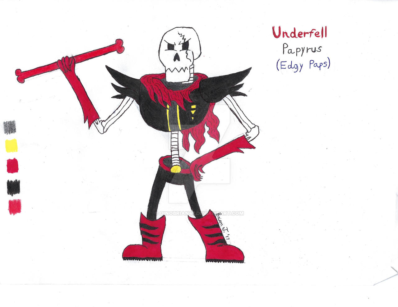 Underfell Papyrus X Reader Underfell Papyrus X Wolf – Dibujos Para