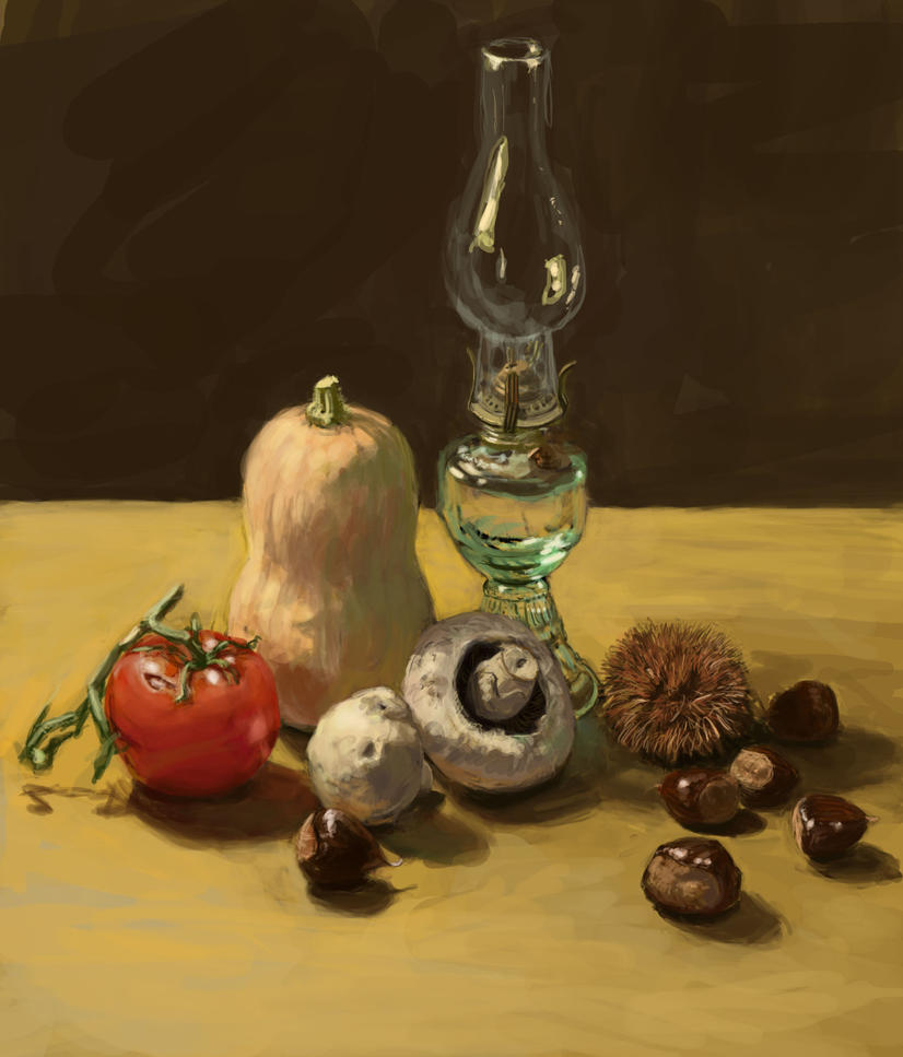 Still Life with Chestnuts by TheCybil