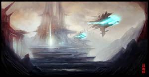 Rocket hangar by Byzwa-Dher