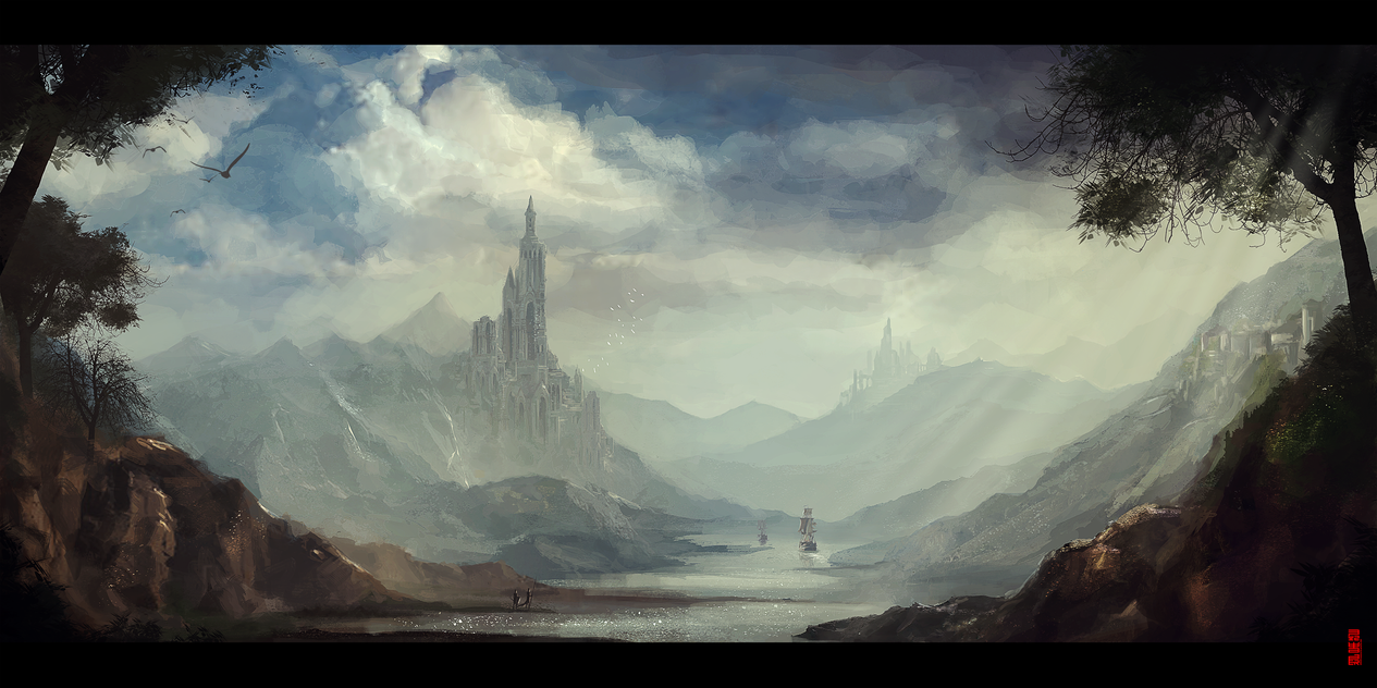 Landscape Speedpaint by Byzwa-Dher