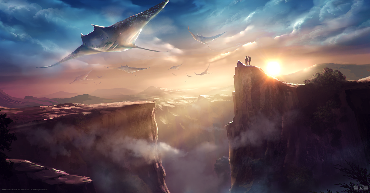 TOUCH THE SKY - 90min speedpaint by Byzwa-Dher