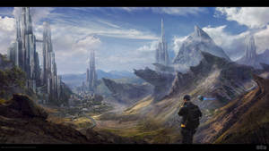MOUNTAINS CITY by Byzwa-Dher