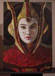 Queen Amidala - acrylic paint