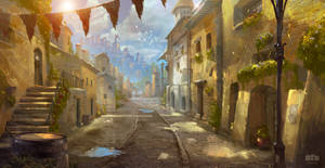 Sunny Street by Byzwa-Dher