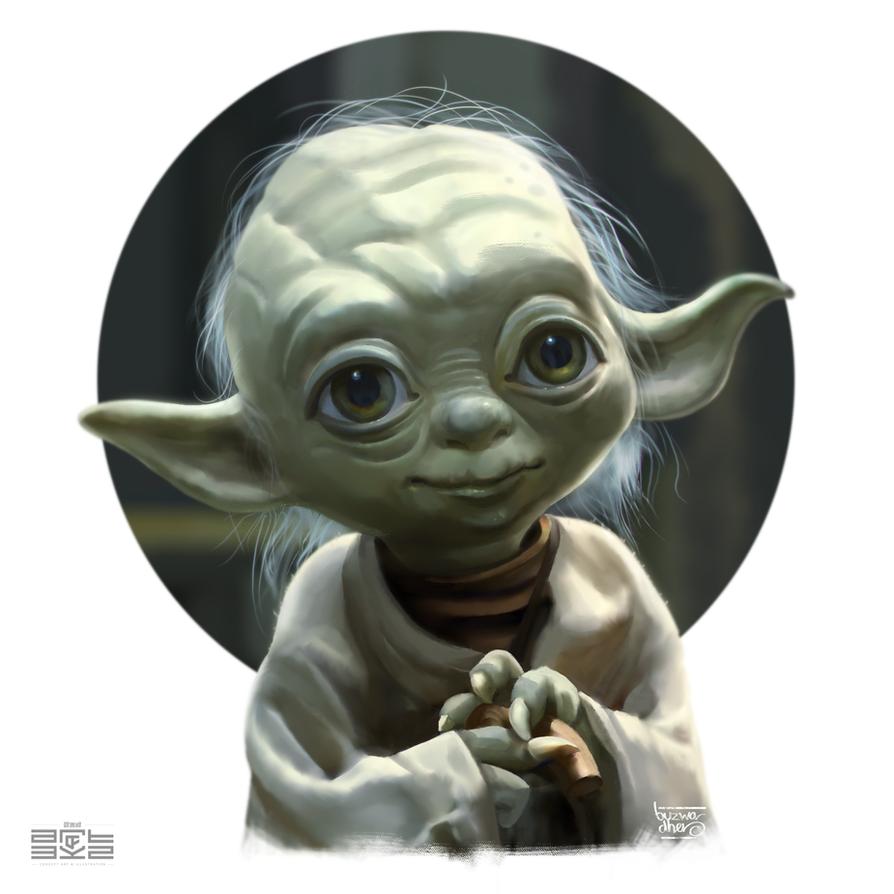 Yoda Stylized by Byzwa-Dher