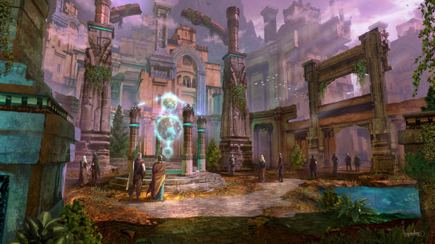 Courtyard / How to Create Fantasy Concept Art in B