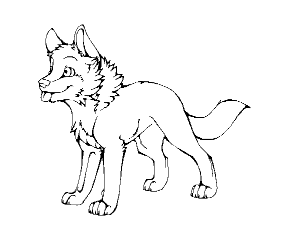 Wolf Pup Linear... Chibi Wolf Lineart