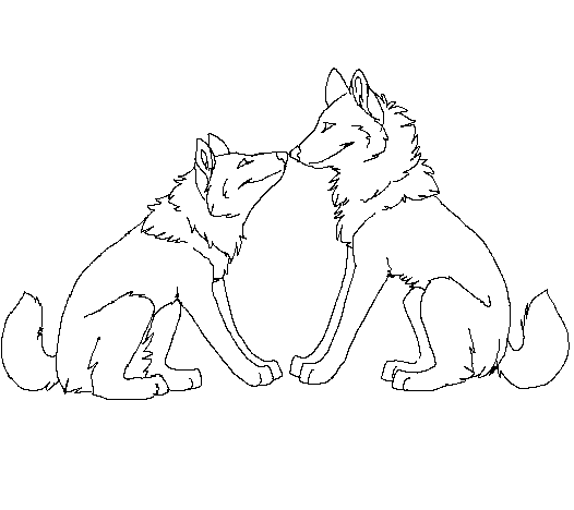 Images Of Two Wolves In Love Drawing Gepezz
