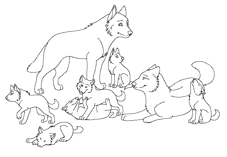 pack of dogs coloring pages - photo#37