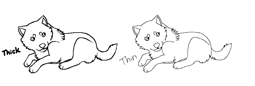 how to draw a wolf pup sleeping