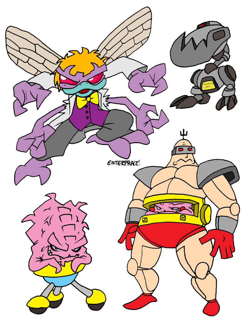 Baxter Stockman and Krang by EnterPraiz