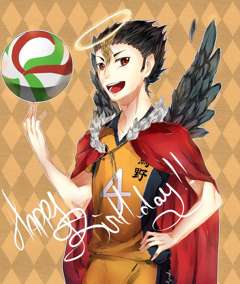 Happy birthday Nishinoya!! by NatsukiNeko