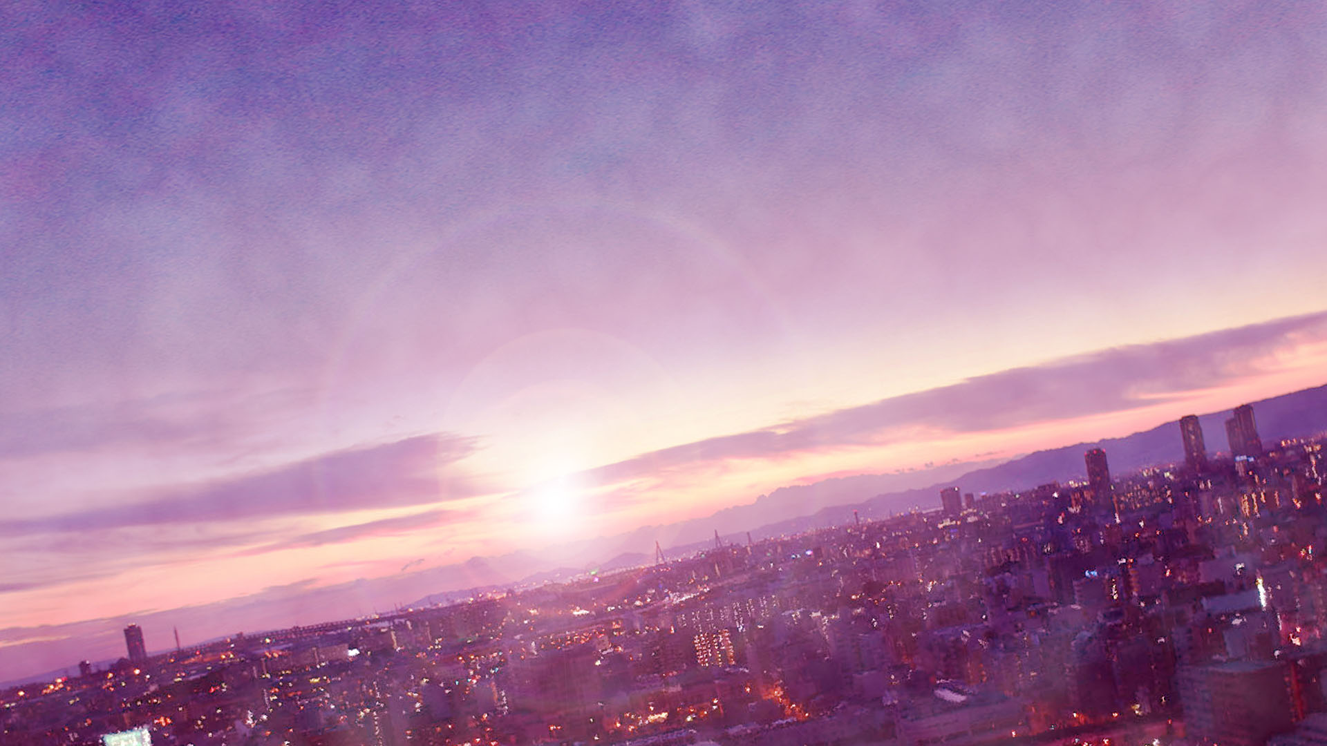 Anime scenery backgrounds cities