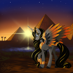 Egyptian Pony Comission (with background)