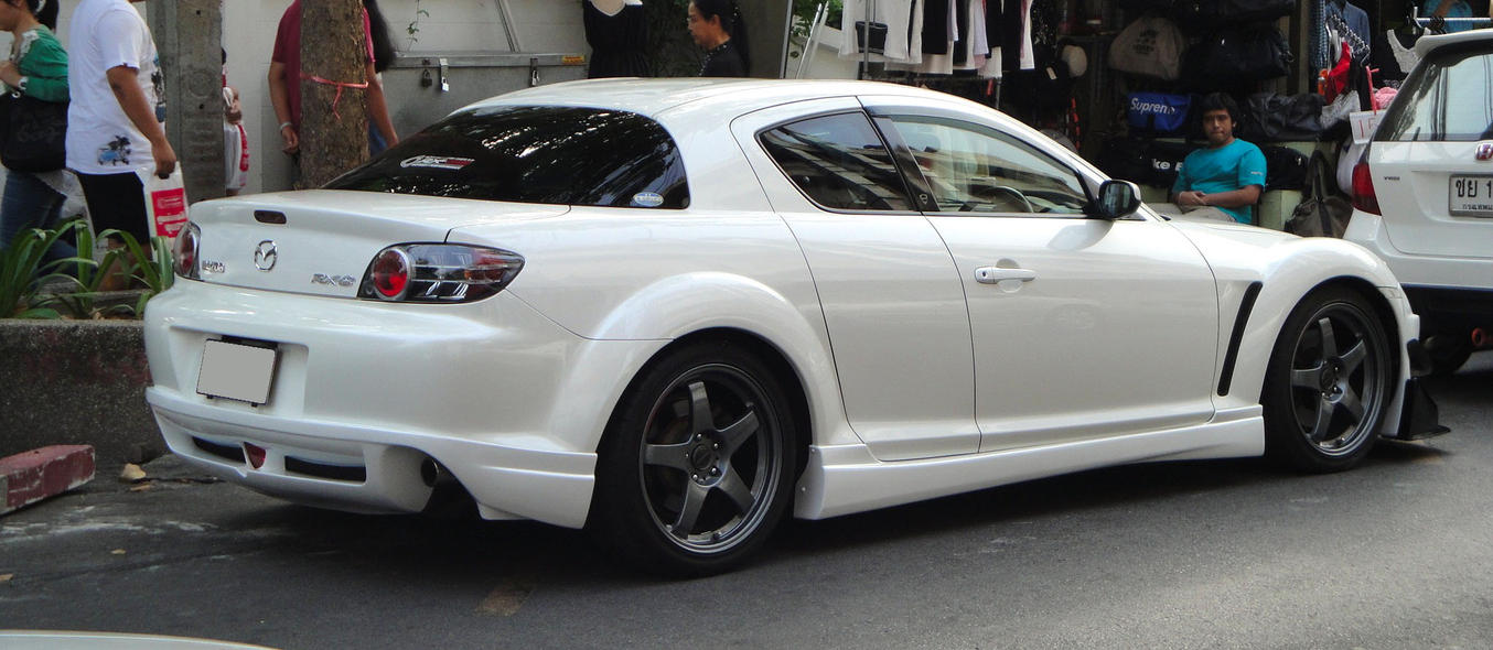 white RX 8 image