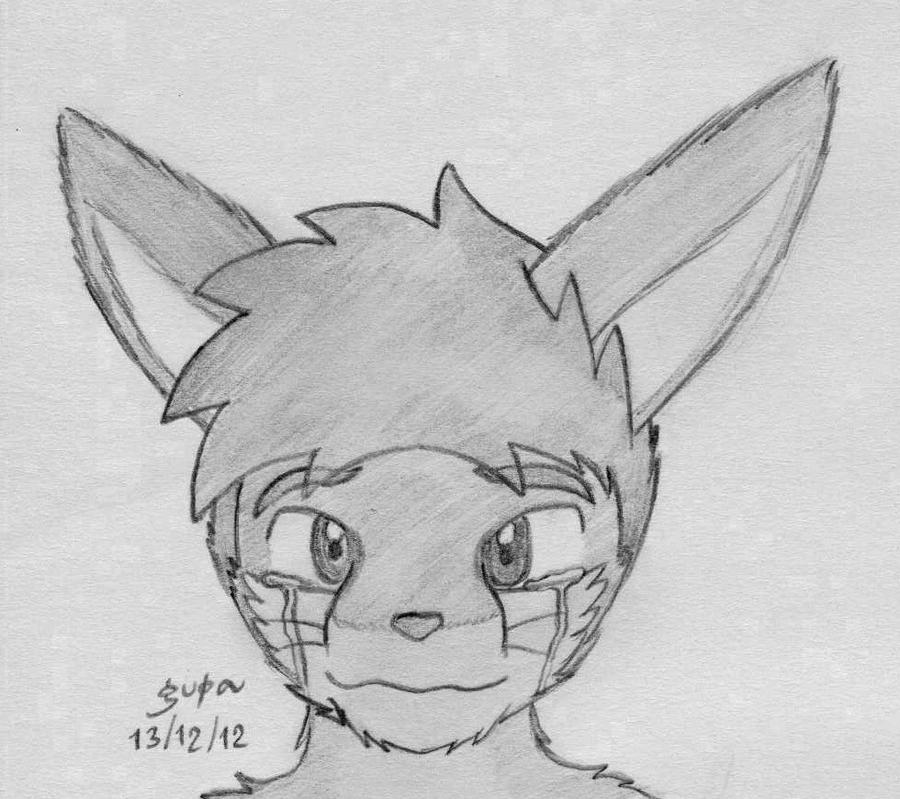 Depressed wolf drawing - photo#29