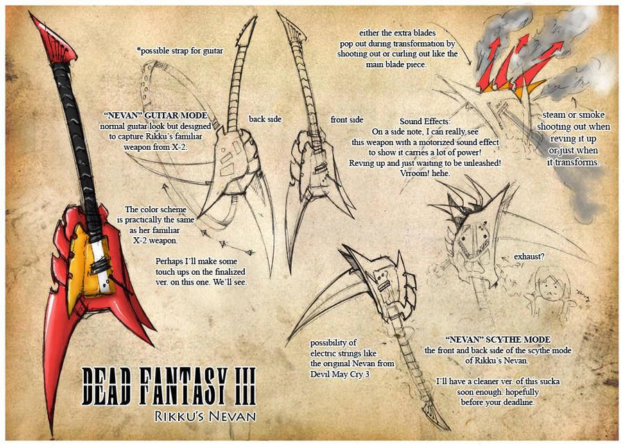 Dead Fantasy III: Rikku Nevan by Sketchfighter316 on DeviantArt