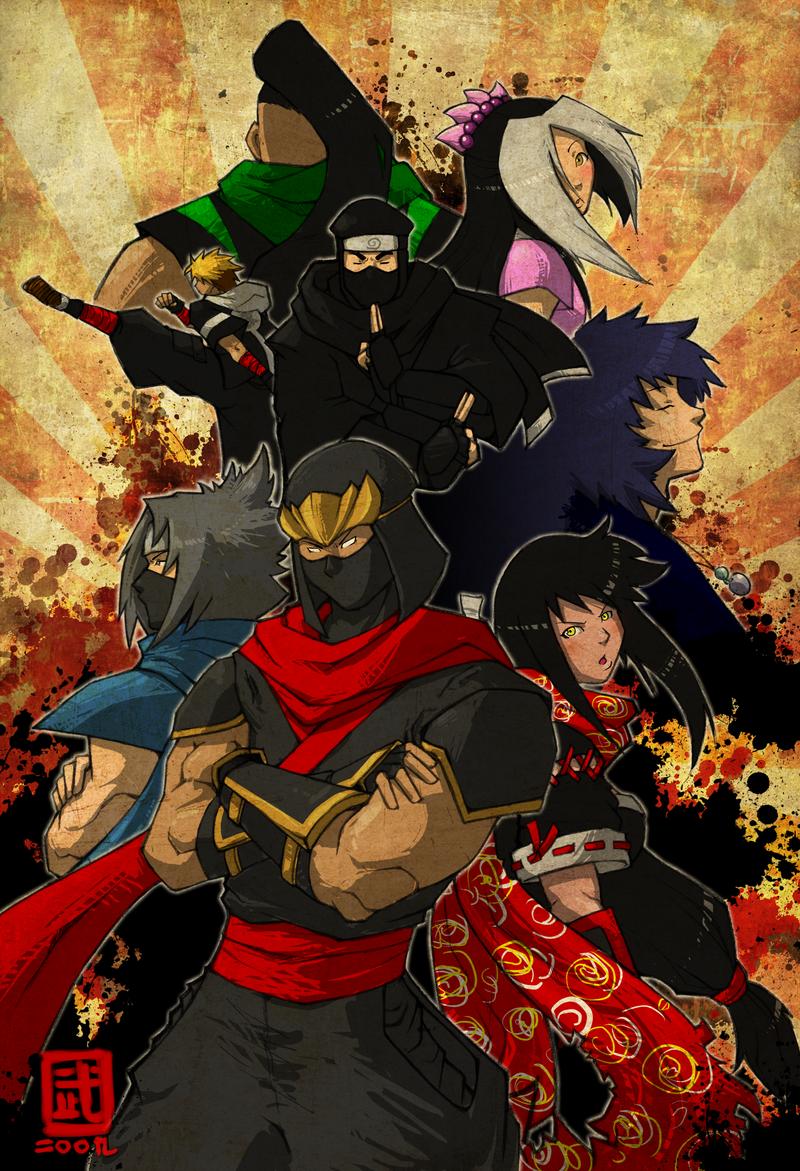 The Ninjas of DeviantART by Sketchfighter316