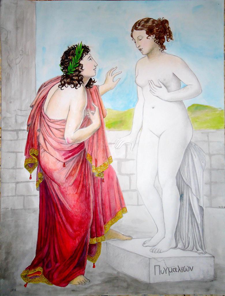 pygmalion and galatea by munchengirl on deviantart