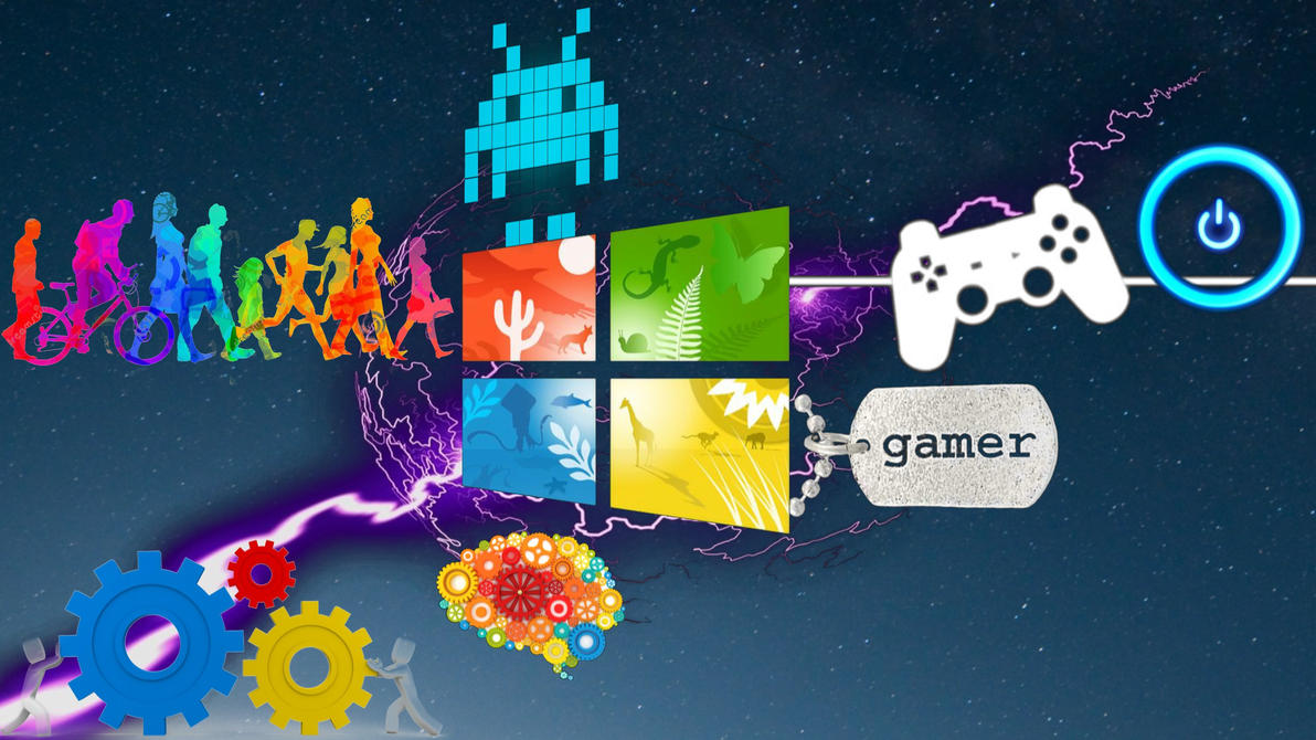 Windows 8 Gaming, Creative, Working Wallpaper By IKenny