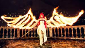 Shakugan no Shana Final: Fire wings by elpheal