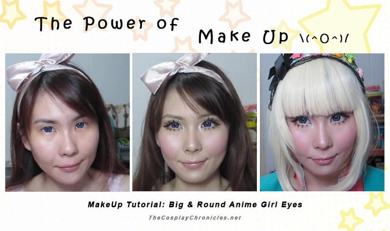 Big Eye Anime Girl Makeup By Elpheal On