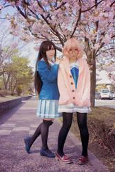 Nase Mitsuki x Kuriyama Mirai x Sakura by elpheal