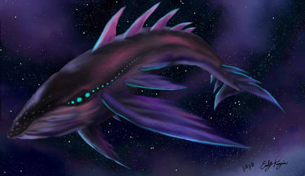 Space Whale by Emchromatic