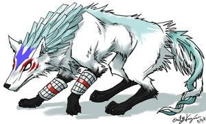 Fierce Deity Wolf Link by Emchromatic
