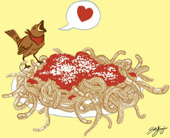 Thank You for the Vermicelli by Emchromatic