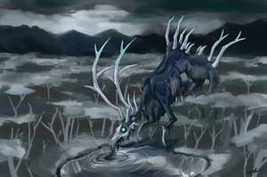Death Stag by Emchromatic